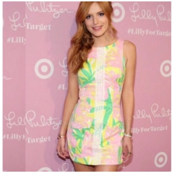 Lilly For Target Shift Dress Size 2 Small Flamingo